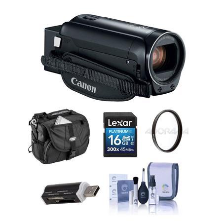 b9fda335786 Canon VIXIA HF R800 3.28MP Full HD Camcorder Black With Free ...