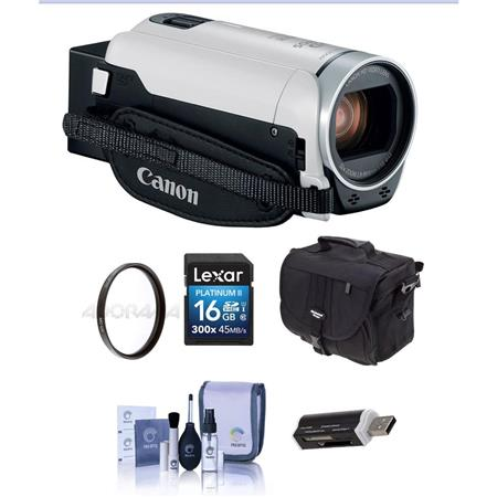 4fded8b8050 Canon VIXIA HF R800 3.28MP Full HD Camcorder White With Free ...