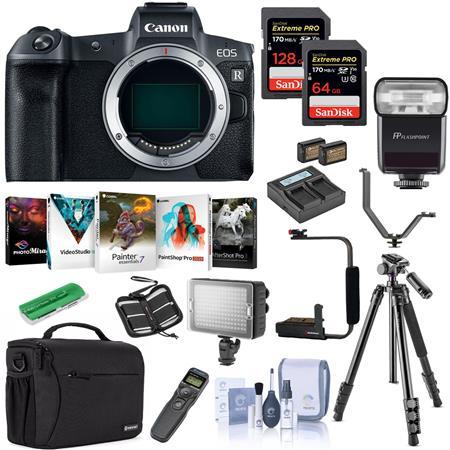 Canon Eos R Mirrorless Full Frame Digital Camera Body Black W Pro Acc Kit