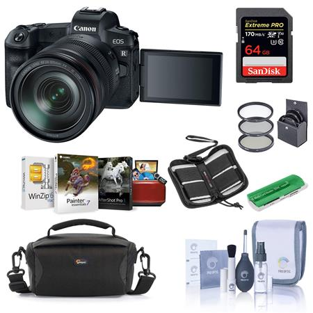 Canon Eos R Mirrorless Camera With Rf 24 105mm F4 L Is Lens W Free Accessory Kit