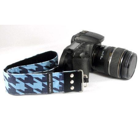 Capturing Couture Camera Strap Cobalt Blue Organza Floral DSLR or Mirrorless Camera
