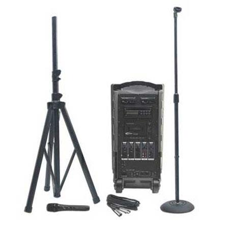 Califone PA919B Integrated Portable PA System With 900MHz Wireless Mic Receiver