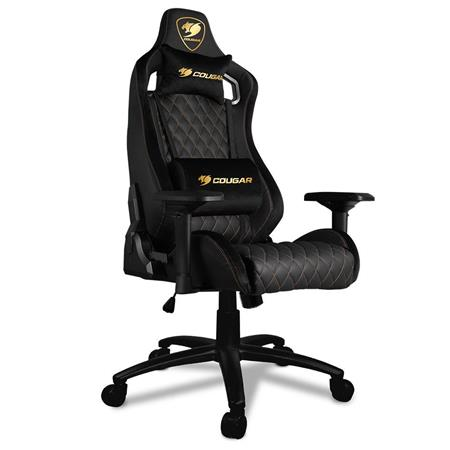 Stupendous Cougar Armor S Royal Breathable Pvc Leather Deluxe Gaming Chair 265 Lbs Capacity Pdpeps Interior Chair Design Pdpepsorg