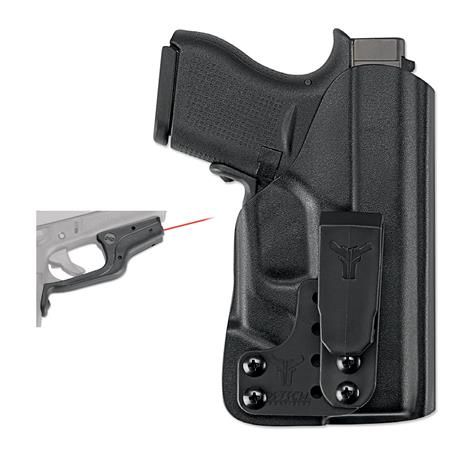 Crimson Trace LaserGuard Red Laser Sight for the Glock 43 Pistol with FREE  Blade-Tech IWB Klipt Ambi Holster