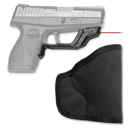 Crimson Trace LaserGuard Red Laser Sight for Taurus Slim PT 708/709 and 740  Pistols, with Holster