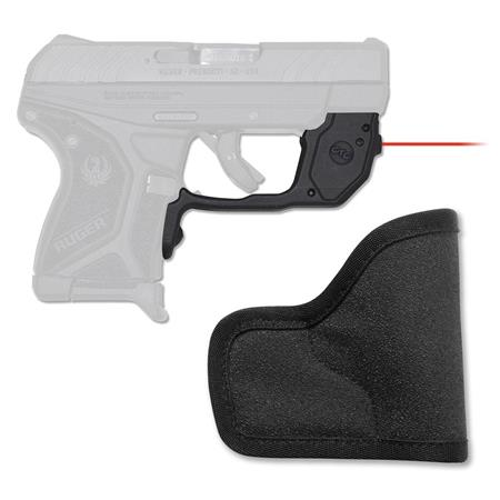Crimson Trace LaserGuard Red Laser Sight and Small Pocket Holster for Ruger  LCP II Pistols