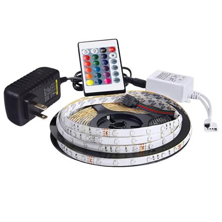 Chromacast Flexible Waterproof Rgb Led Light Strip With Power Adapter Controller 16 5