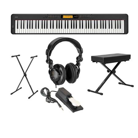 Casio CDP-S350 88-Key Compact Digital Piano Keyboard - With Accessoiry Bundle CDP-S350 A