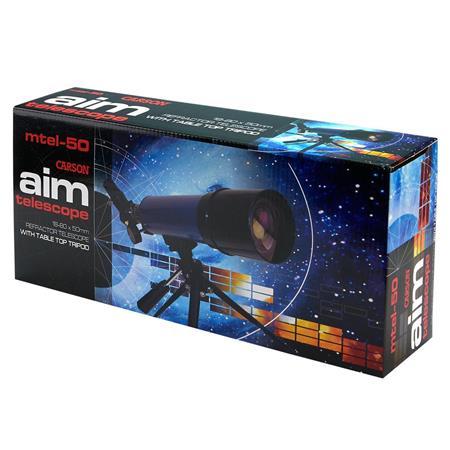 Carson 20-80x50 Aim Table Top Tripod Refractor Telescope