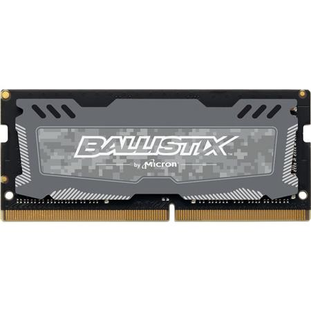 Crucial Technology Ballistix Sport LT 8GB 260-Pin SODIMM DDR4 SDRAM 2666  MT/s (PC4-21300) Memory Module, CL16, Unbuffered, Dual Ranked x8, 1024Meg x