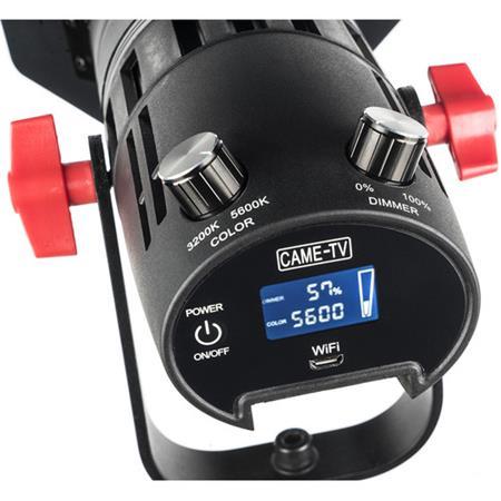 CAME-TV Boltzen F-55S COB Fresnel Focusable Led Video Light High Output 55W Bi-Color 3200K-5600K CRI96 TLCI97+Dimmable 0/%-100/% Dual Power Supply W//Filter Set,Removable Barn-Door,Carry Bag