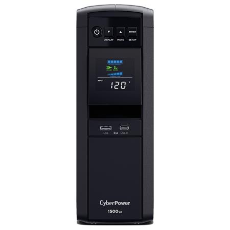 8 Outlets CyberPower Intelligent LCD Computer Battery Backup 1500VA 900W UPS
