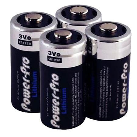 Dakota Alert Cr123a 3v Lithium Batteries 4 Pack