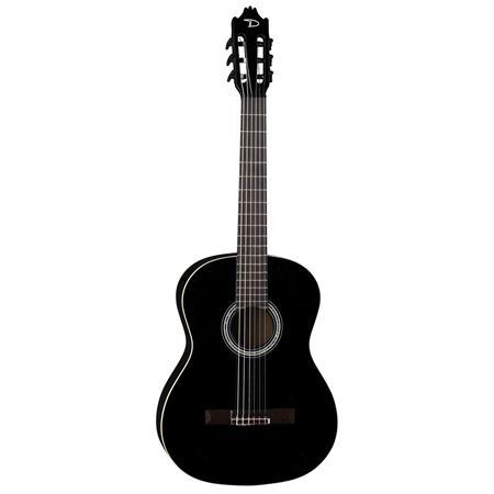 Dean Guitars Espana Full Size Classical 6-String Electric Guitar, 19 Frets,  'C' Shape Neck, Black Walnut Fretboard, Classic Black