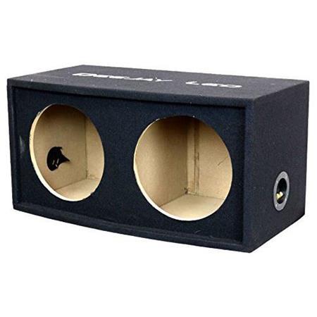 """Deejay LED 10"""" Double Heavy Duty Woofer Empty Car Speaker Box"""