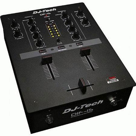 DJ Tech DIF-1S Professional 2-Channel DJ Scratch Mixer with Mini Innofader