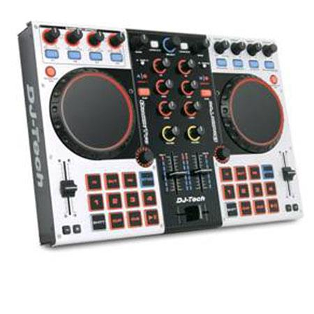 DJ Tech Dragon Two Professional 4-Channel Digital DJ Controller and Mixer  with Virtual DJ LE Software