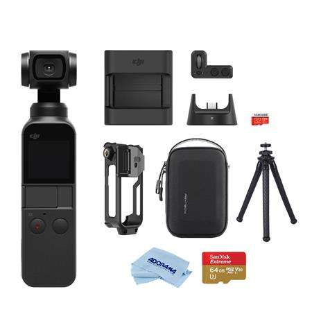 DJI Osmo Pocket 3-Axis Gimbal Stabilized Handheld Camera With Accessory  Bundle
