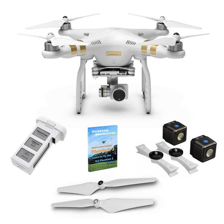 DJI Phantom 3 Pro Quadcopter w/4K Camera w/Lume Cube Lighting Kit and More