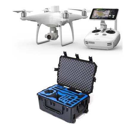 DJI Phantom 4 RTK Drone Plus D-RTK 2 Mobile Station Combo W/Go Prof Hard  Case