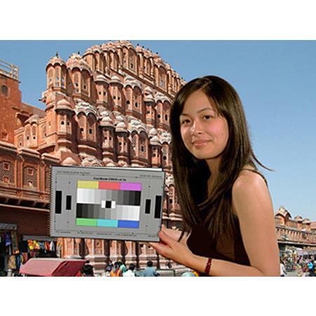 DSC Labs CamBook-4 Camera Alignment Test Chart Folder, Colorbar/Grayscale,  Multiburst, Backfocus Star, CamWhite