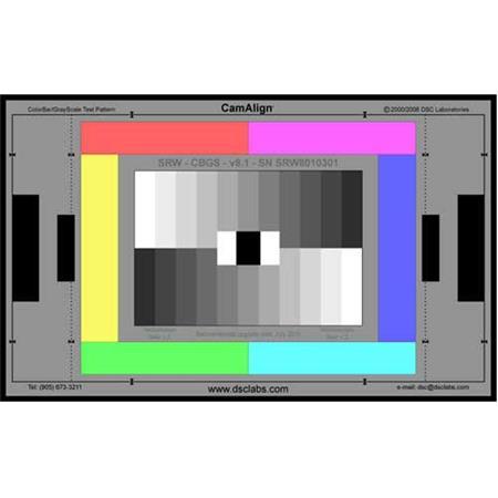 DSC Labs ColorBar/GrayScale Standard Senior Size CamAlign Chip Chart,  14 7x24