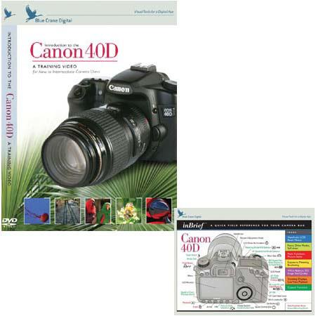 Blue Crane Combo with DVD, for Canon 40D DSLR BC614 - Adorama
