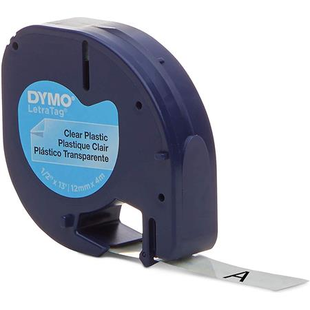 "US STOCK 10 Black on Clear Tape 16952 for DYMO Letra Tag Label Makers 1//2/""x13ft"