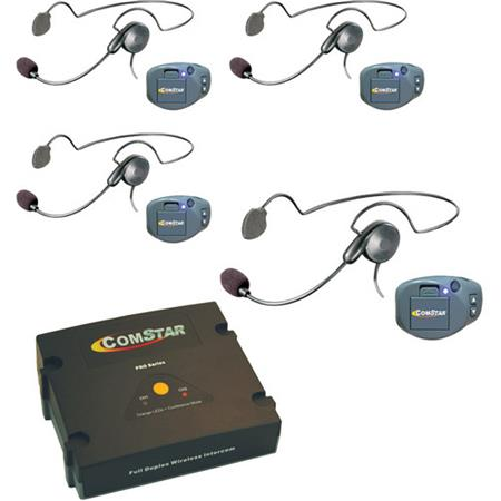 Eartec Comstar Xt 4 User Wireless Intercom System 4x