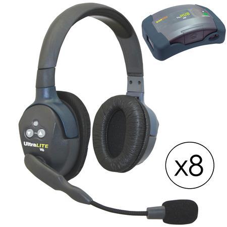 1a99462cb4c Eartec HUB8D HUB 8 Person System, 8x UltraLITE Dual-Ear Remote ...