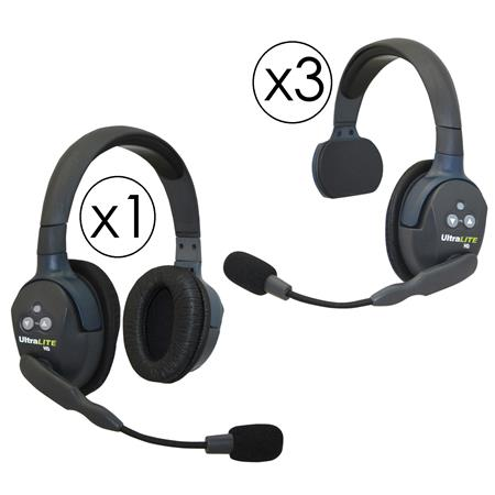 Eartec Ul431 Ultralite 2 Person System Includes 3x Single