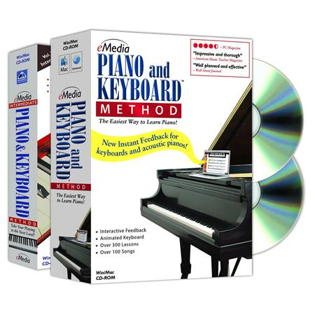 eMedia Piano and Keyboard Method Deluxe for Windows/Macintosh, 450+ Piano  Lesson and Beginning to Intermediate, 2 CD-ROM Set