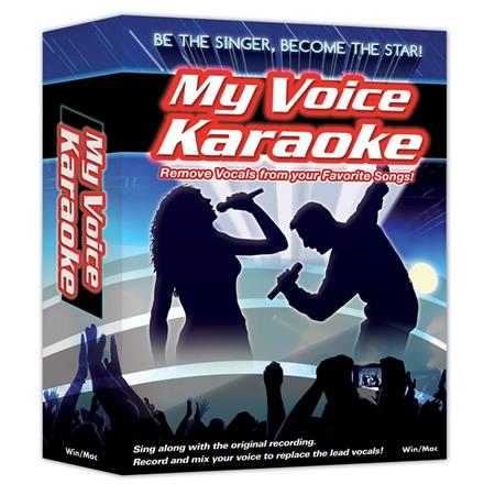 eMedia My Voice Karaoke Vocal Removal Software, Windows and Mac, CD-ROM