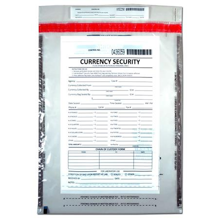 Evident 12x15 currency security bag 100 pack ev5502 for 12x15 calculator