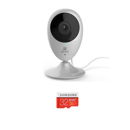 EZVIZ Mini O CV-206 720p Indoor Day & Night Cloud Camera, - With 32GB Micro  SDHC Card
