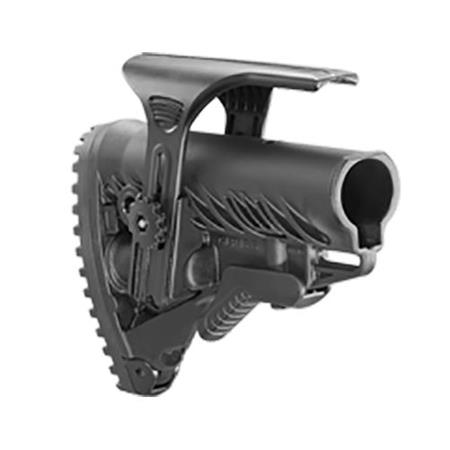 FAB Defense GLR16CP Tactical Buttstock with Adjustable Cheek Riser for  M4/AR-15 Rifles, Black