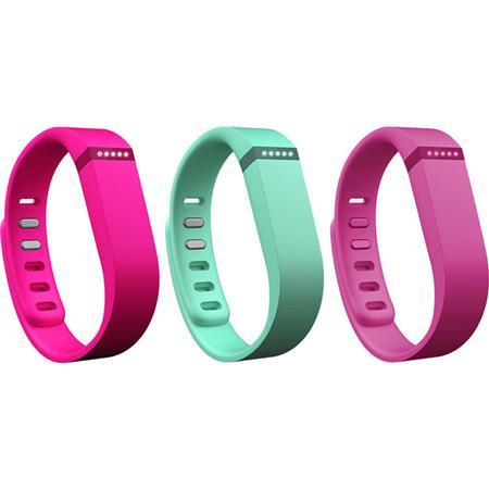 Violet//Pink//Teal Large Fitbit Flex Vibrant Accessory Pack