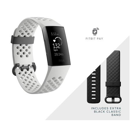 Fitbit Charge 3 with Fitbit Pay NFC, Special Edition, Frost White