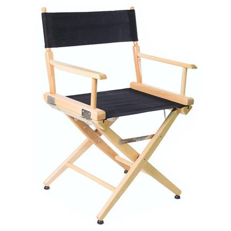Strange Filmcraft Pro Series 18 Short Director Chair Natural Wood With Black Canvas Squirreltailoven Fun Painted Chair Ideas Images Squirreltailovenorg