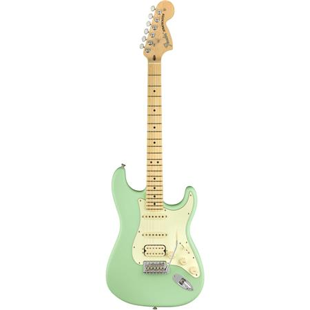 Fender American Performer Stratocaster Electric Guitar, HSS, Maple  Fingerboard, Satin Surf Green