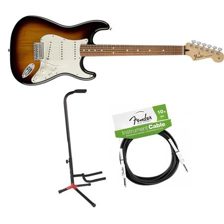 Fender Standard Stratocaster Electric Guitar Pau Ferro Brown Sunburst W/Acc  KIt