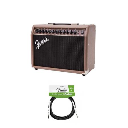 fender acoustasonic 40 120v amplifier for electric guitar brown wheat cable 2314200000 a. Black Bedroom Furniture Sets. Home Design Ideas
