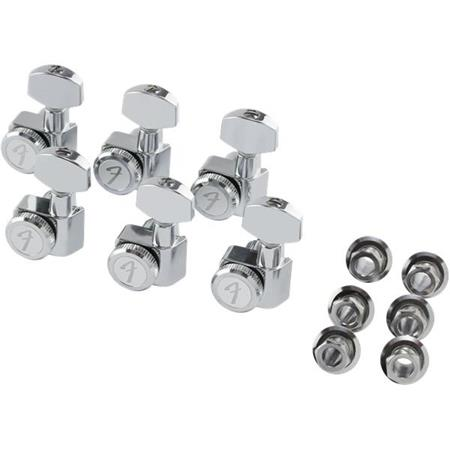 Fender Locking Tuners >> Fender Locking Tuning Machines For Stratocaster And Telecaster Guitar Left Handed Polished Chrome