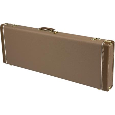 2853ecd94a Fender Deluxe Strat/Tele Multi-Fit Hardshell Case, Brown with Gold ...