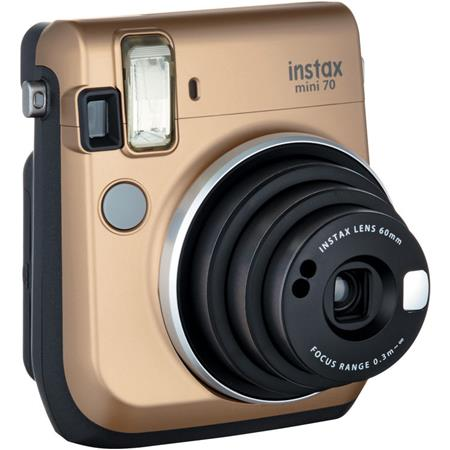 Fujifilm instax mini 70 instant film camera stardust gold for Housse instax mini 70