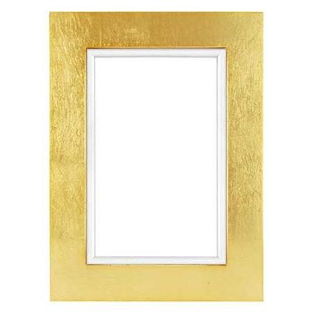 Framatic Aria Wood Frame For 4x6 Photograph 1 Profile Gold