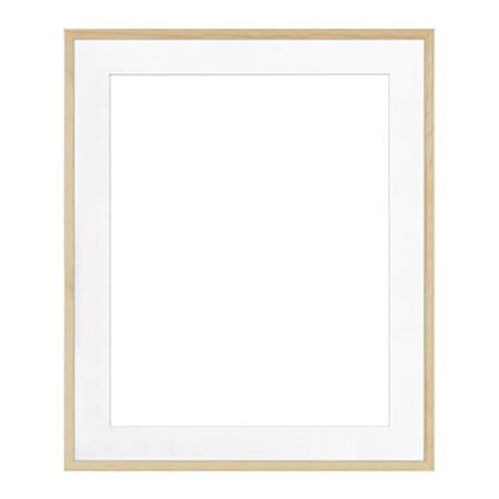 Framatic Woodworks 20x24 Natural Hardwood Frame Matted For A 16x20