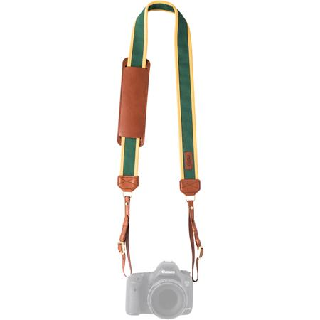 1c2f5ceb0 FOTOstrap The Bagby Camera Strap, Gold Green Canvas Fabric/Brown ...