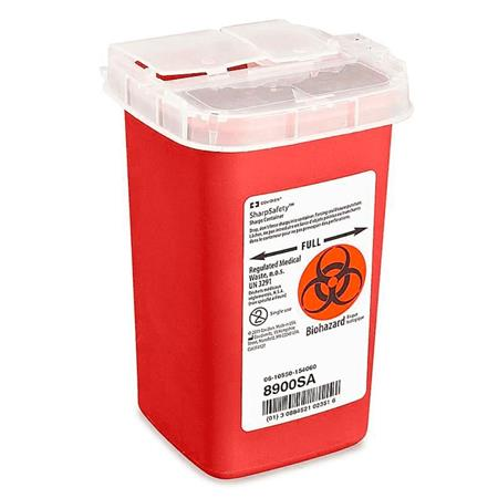 Uline 1 Quart Sharps Container for Needles/Syringes/Lancets/Razors/Sharp  Objects, 10 Count
