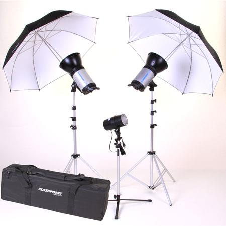Flashpoint 3 Light Strobe Outfit Fp3203